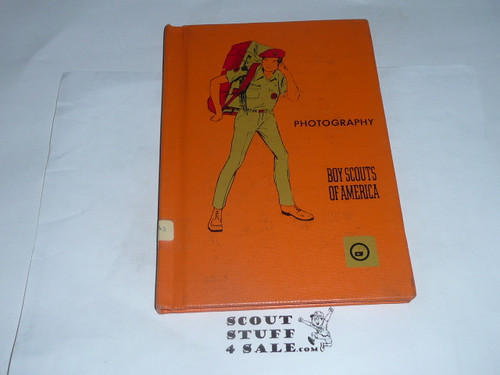 Photography Library Bound Merit Badge Pamphlet, Type 8, Green Band Cover, 12-72 Printing