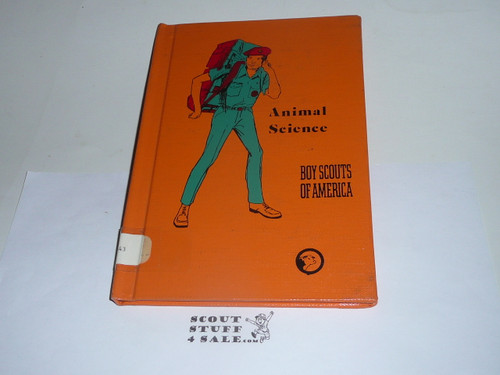 Animal Science Library Bound Merit Badge Pamphlet, Type 8, Green Band Cover, 8-75 Printing