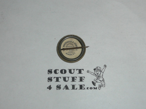 Linen Clad Scout Stockings Celluloid Boy Scout Button