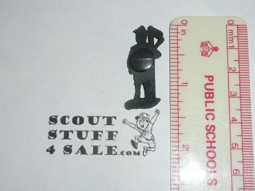 "1 1/4"" High Lead Boy Scout button hole Figurine, RARE"