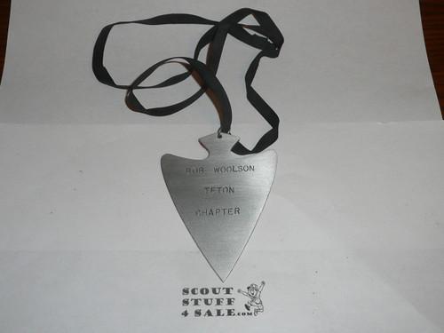 Order of the Arrow Lodge #566 Malibu Bill Stroh made Medallion, Teton Chapter Advisor, RARE