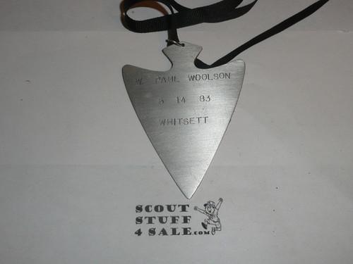 Order of the Arrow Lodge #566 Malibu Bill Stroh Brotherhood Medallion, Arrowhead