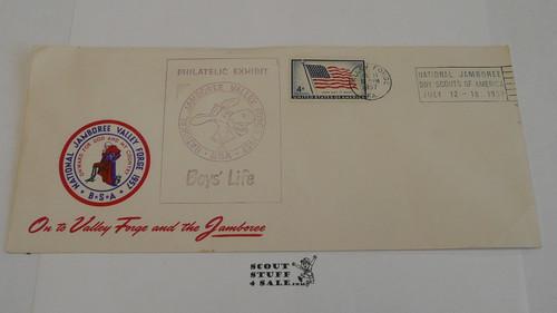 1957 National Jamboree Envelope with Jamboree cancellation, Boys' Life Exhibit