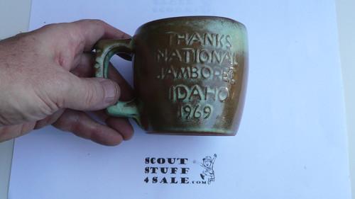 1969 National Jamboree Frankoma Ceramic Coffee Mug, Green