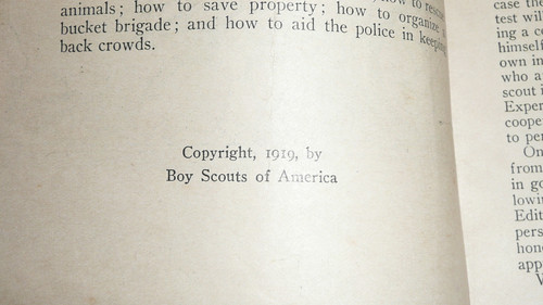Firemanship Merit Badge Pamphlet, Type 1, White Cover, 1919