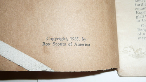Agriculture Merit Badge Pamphlet, Type 3, Tan Cover, 1925 Printing