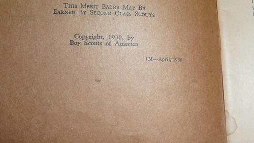 Art Merit Badge Pamphlet, Type 3, Tan Cover, 4-36 Printing