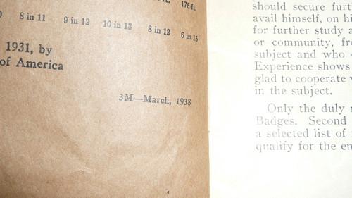 Athletics Merit Badge Pamphlet, Type 3, Tan Cover, 3-38 Printing
