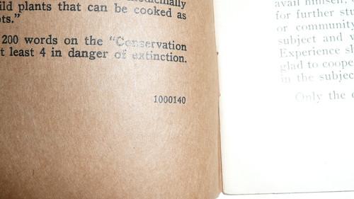 Botany Merit Badge Pamphlet, Type 3, Tan Cover, 1-40 Printing