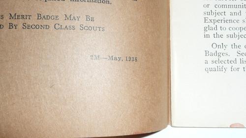 Pathfinding Merit Badge Pamphlet, Type 3, Tan Cover, 5-38 Printing