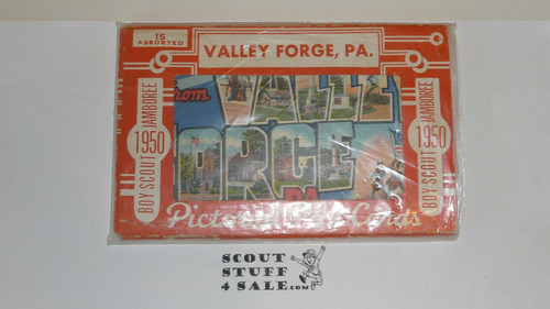 1950 National Jamboree Postcard Set, should be 15 but only 12