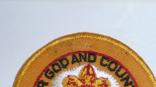 1960 National Jamboree Patch Blank with no embroidered letters, RARE, button hole slit at top
