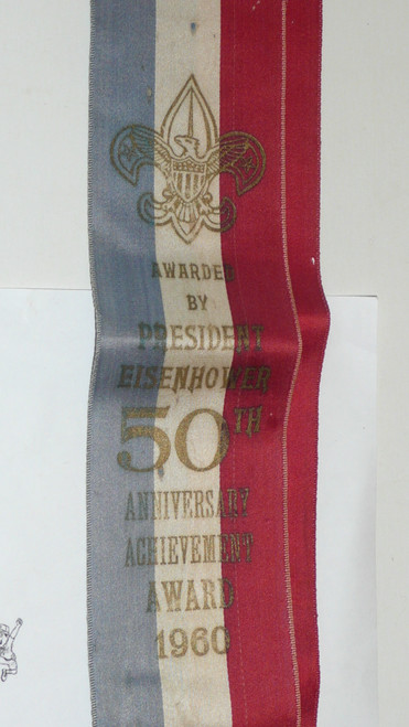 1960 President Eisenhower 50th Anniversary Unit Achievement Award Ribbon, RARE, Minimal wear