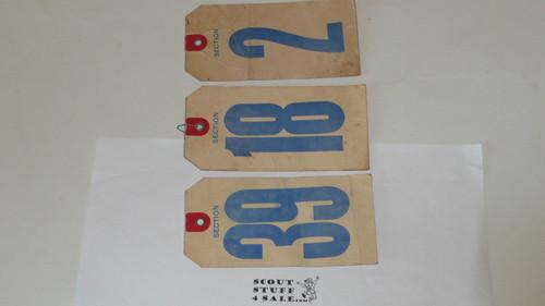 1960 National Jamboree Luggage Tags, group of 3