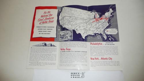 1950 National Jamboree Pennsylvania Railroad Brochure / Map