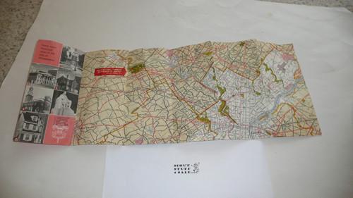 1964 National Jamboree Map provided by the Atlantic Refining Company