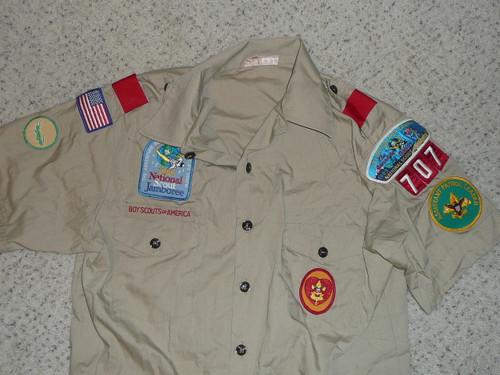 1980's Boy Scout Uniform Shirt from Los Angeles Area Council, 1989 Jamboree, Medium size, #FB46