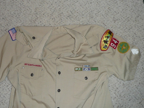 1980's Boy Scout Uniform Shirt from Yosemite Area Council, Mens XL, #FB52