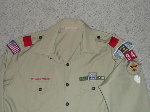 1990's Boy Scout Uniform Shirt from Yosemite Area Council, Mens XL, #FB53