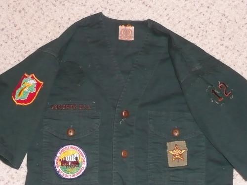 "1950's Boy Scout Explorer Uniform Shirt with 1953 Jamboree Region and more, 17"" chest 25"" length, #FB62"