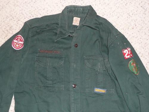 """1950's Boy Scout Explorer Uniform Shirt, 21"""" chest 29"""" length, #FB65"""