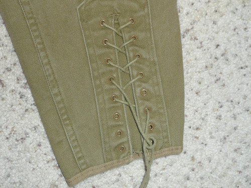 """1930's Official Boy Scout Uniform lace-up Knickers, 26"""" waist 30"""" length"""