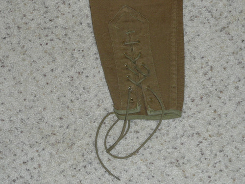"""1920's Official Boy Scout Uniform lace-up Knickers, 22"""" waist 30"""" length"""