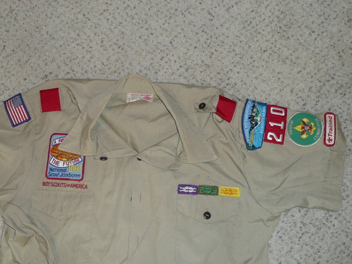 1990's Boy Scout Uniform Shirt 1993 National Jamboree from Greater Pittsburg Council, Mens Large, #FB104