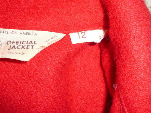 Official Boy Scouts of America Red Wool Jacket  -  Size 12, used, #FB1