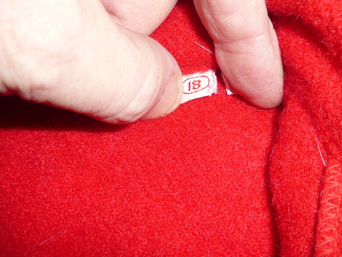Official Boy Scouts of America Red Wool Jacket  -  Size 18, used, #FB3
