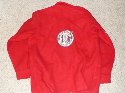 Official Boy Scouts of America Red Wool Jacket  -  Size 40, used, #FB7