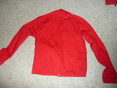 """Official Boy Scouts of America Red Cotton Jacket  -  18"""" chest 22"""" length, used, #FB8"""
