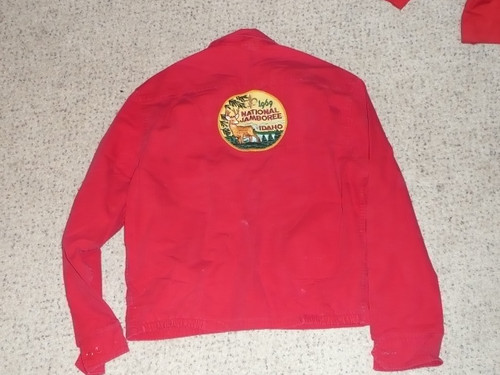 Official Boy Scouts of America Red Cotton Jacket  -  Medium, used, #FB9
