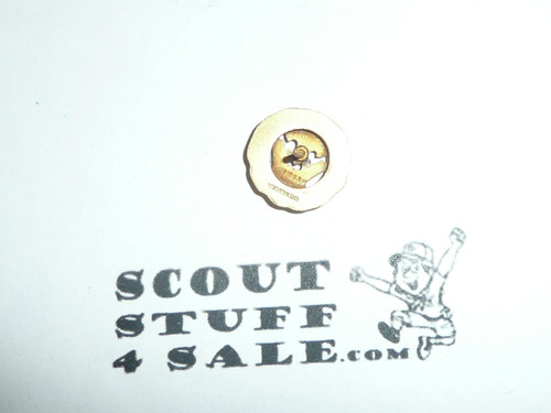15 Year Veteran Pin, 1940's Issue, 10K GOLD, post back