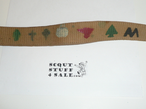 1931 Boy Scout Friction Belt and Buckle with camp emblems on webbing