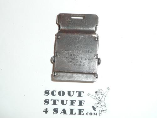 1913 Sigmund Eisner Boy Scout Friction Belt Buckle, used