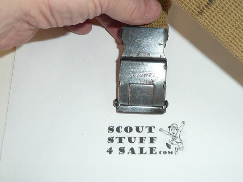 1930's Boy Scout Friction Belt Buckle and web belt, used #2