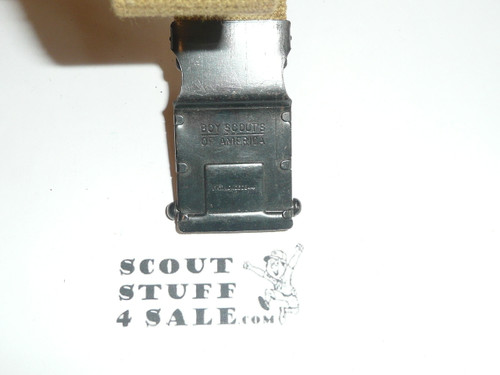 1930's Boy Scout Friction Belt Buckle and web belt, like new #2