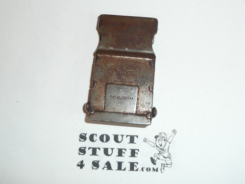 1930's Boy Scout Friction Belt Buckle, well used