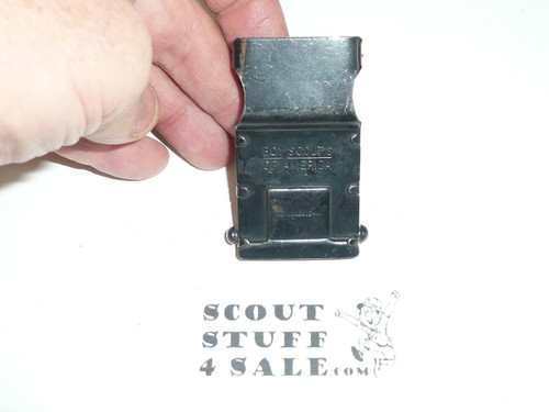 1930's Boy Scout Friction Belt Buckle, litely used