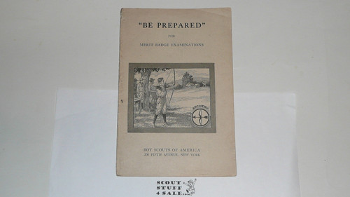 Archery Merit Badge Pamphlet, Type 1, White Cover, 1920 - RARE
