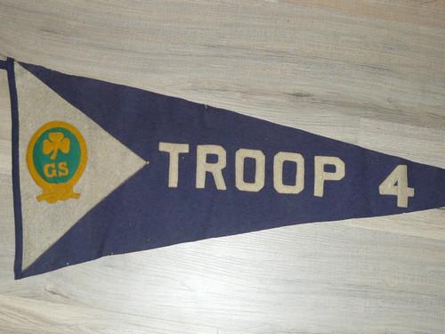Teens Girl Scout Felt Troop Pennant, used