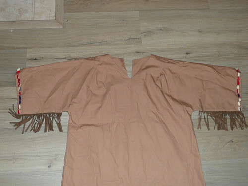 "Vintage Campfire Girls Ceremonial Dress, 21"" chest, 43"" length to top of fringe"