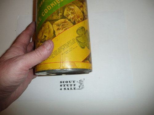 OLD Girl Scout Home Style Cookie Tin, small hole see pictures, empty