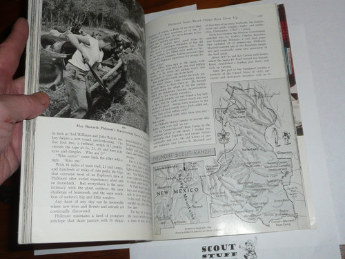 1956 Philmont Scout Ranch Helps Boys Grow Up National Geographic Magazine 17 page article
