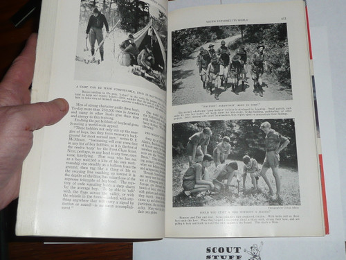 May 1934 National Geographic Magazine with extensive article about Youth Exporing the World, includes lots of Scouting
