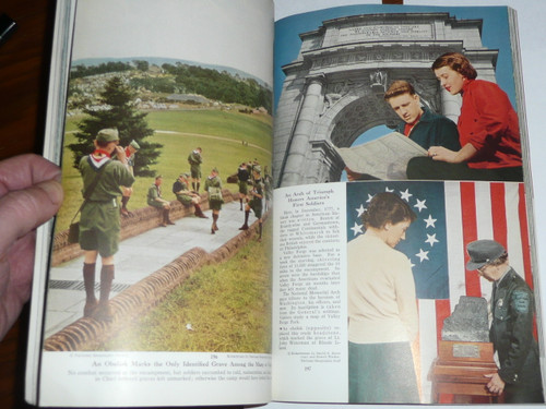 February 1954 National Geographic Magazine with article on Valley Forge including Scouting pictures from Jamboree