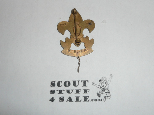"""T.H. Foley 1912-1915 2"""" Tall First Class Hat Pin, Boy Scout, RARE"""
