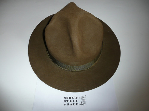 Early Official Boy Scout Campaign Hat (Smokey the Bear hat) made by Stetson, size 7 1/2, Near MINT, CH1