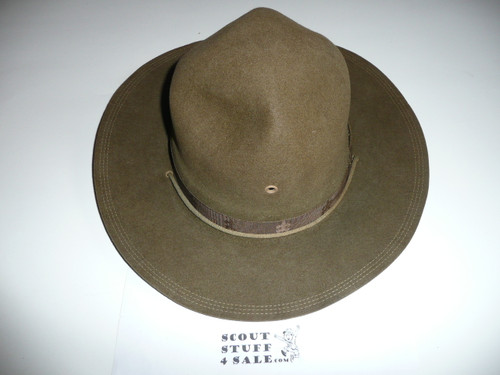 Early Official Boy Scout Campaign Hat (Smokey the Bear hat) made by Sigmund Eisner, size 7 1/8, Near MINT, CH3